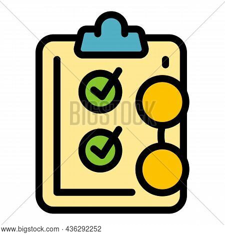 Career Form Icon. Outline Career Form Vector Icon Thin Line Color Flat On White