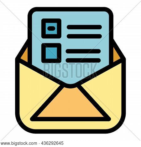 Campaign Form Icon. Outline Campaign Form Vector Icon Thin Line Color Flat On White