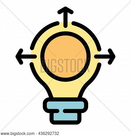Creative Bulb Campaign Icon. Outline Creative Bulb Campaign Vector Icon Color Flat Isolated