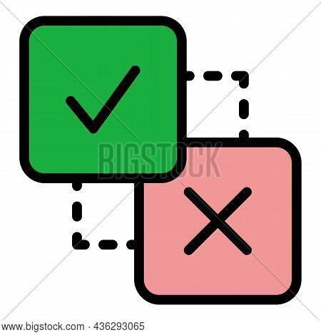 Political Democracy Icon. Outline Political Democracy Vector Icon Color Flat Isolated