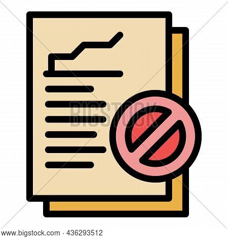 Democracy Report Icon. Outline Democracy Report Vector Icon Color Flat Isolated