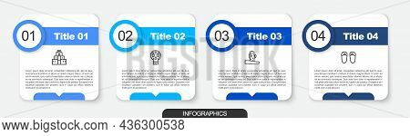 Set Line Chichen Itza In Mayan, Mexican Skull, Cactus And Flip Flops. Business Infographic Template.
