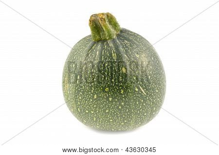 Round Zucchini On A White Background