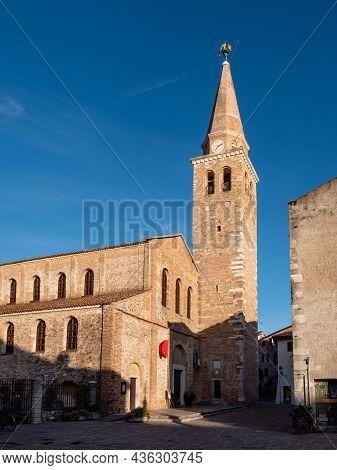 Basilica Of Sant'eufemia Church In Grado, Friuli-venezia Giulia, Italy On A Summer Evening