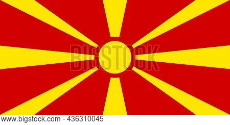 The Flag Of Republic Of Macedonia A Geographic And Historical Region That Includes Parts Of Six Balk