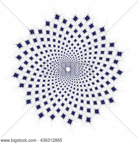 Square With Spikes Repeated In Fibonacci Pattern