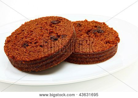 Brown Bread On Plate
