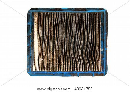 Top View Of Dirty Air Filter
