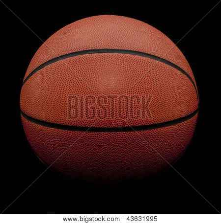 Isolated Basketball On Black Background