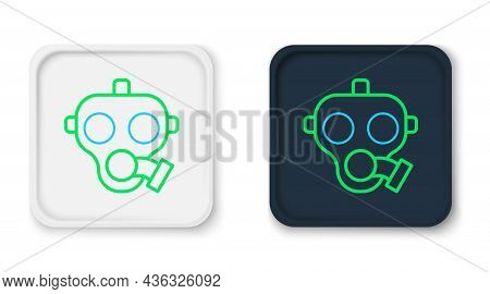 Line Gas Mask Icon Isolated On White Background. Respirator Sign. Colorful Outline Concept. Vector