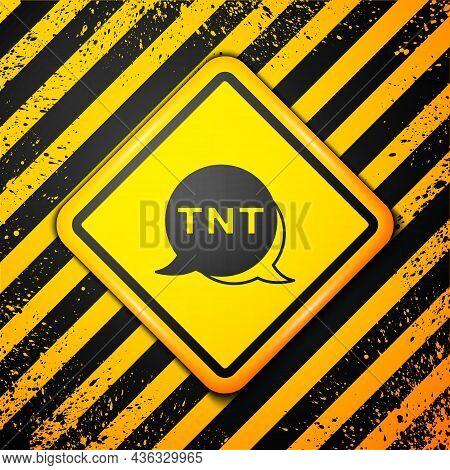 Black Detonate Dynamite Bomb Stick Icon Isolated On Yellow Background. Time Bomb - Explosion Danger