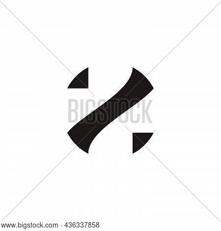 Letter Z Simple Geometric Negative Space Logo Vector