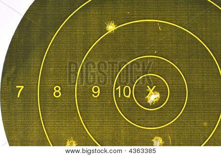 Pistol Target Bullseye