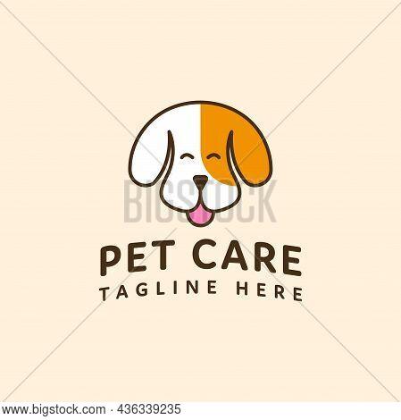 Pet Care Logo Dog Head Vector Design. Pet Shop Logo Design Stock Illustrations. Dog Cat Logo. Animal
