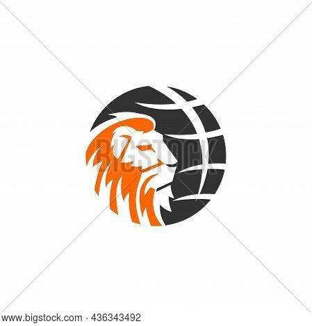 Lion Globe Illustration Template Emblem Mascot Isolated