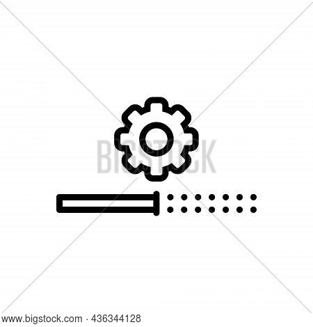 Black Line Icon For Installation Install Update Software Process Application Upgrade Download