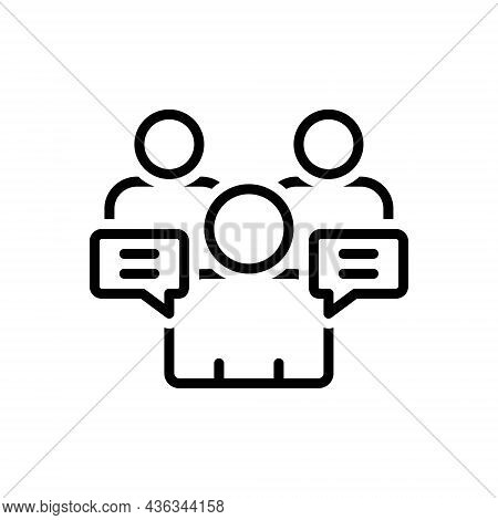 Black Line Icon For Ours-counsel Adviser Consultant Discuss Meeting Advisory Psychologist