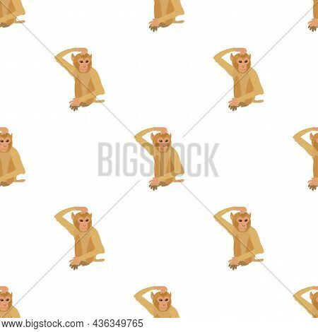 Brooding Monkey Pattern Seamless Background Texture Repeat Wallpaper Geometric Vector