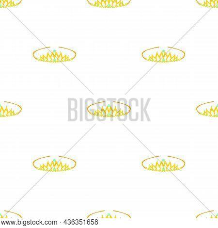 Tiara Pattern Seamless Background Texture Repeat Wallpaper Geometric Vector