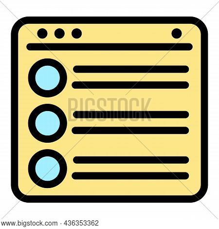 Digital Catalog Icon. Outline Digital Catalog Vector Icon Color Flat Isolated