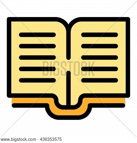 Electronic Open Catalog Icon. Outline Electronic Open Catalog Vector Icon Color Flat Isolated