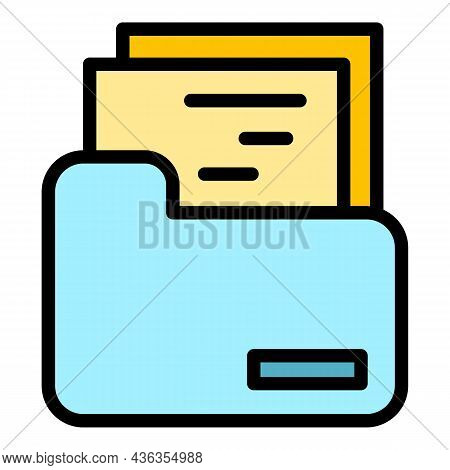 Support Files Icon. Outline Support Files Vector Icon Color Flat Isolated