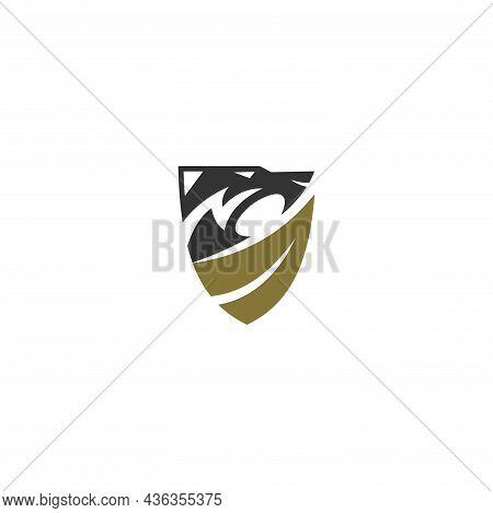 Lion Leaf Shield Template Illustration Emblem Mascot Isolated