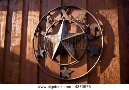 A Rustic Texas Star Hanging