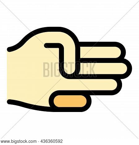Hand Gesture Spread Icon. Outline Hand Gesture Spread Vector Icon Color Flat Isolated