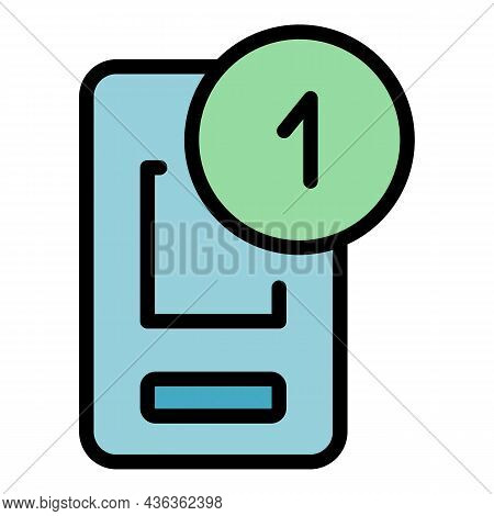Notification Interface Icon. Outline Notification Interface Vector Icon Color Flat Isolated