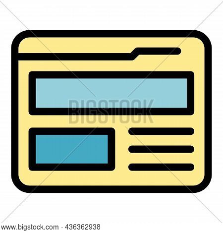 Export Site Interface Icon. Outline Export Site Interface Vector Icon Color Flat Isolated