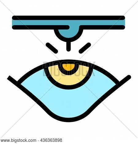 Eyes Laser Surgery Icon. Outline Eyes Laser Surgery Vector Icon Color Flat Isolated