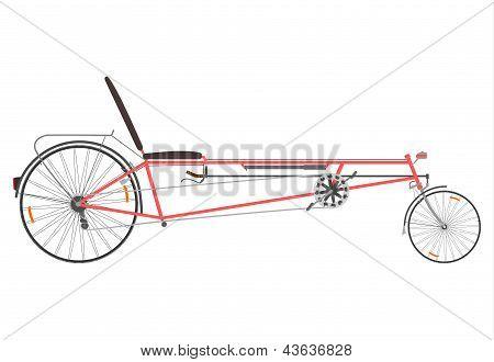 Retro Recumbent Bike.