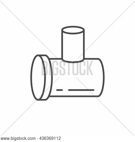 Sewage Pipe Line Outline Icon Isolated On White