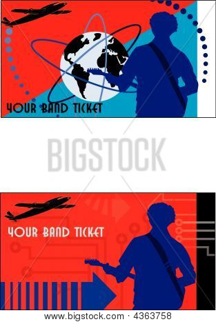 Band Ticket Red