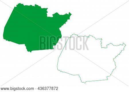 Piritiba Municipality (bahia State, Municipalities Of Brazil, Federative Republic Of Brazil) Map Vec