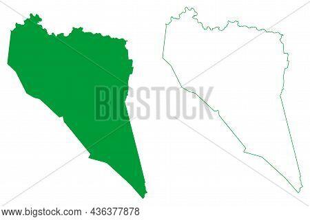 Ponto Novo Municipality (bahia State, Municipalities Of Brazil, Federative Republic Of Brazil) Map V