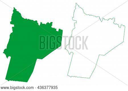 Saude Municipality (bahia State, Municipalities Of Brazil, Federative Republic Of Brazil) Map Vector