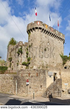 Avranches, France - October 13 2021: Tower Of The Promenade (tour Du Promenoir) Of The Castle Of Avr