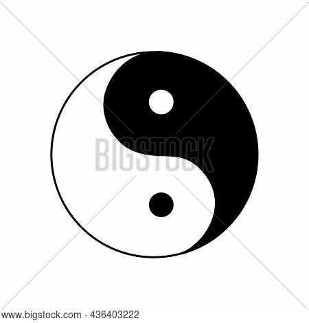 Yin And Yang, Ancient Symbol Of Chinese Philosophy, Meaning Harmony, Dual Nature Of All Existing Obj