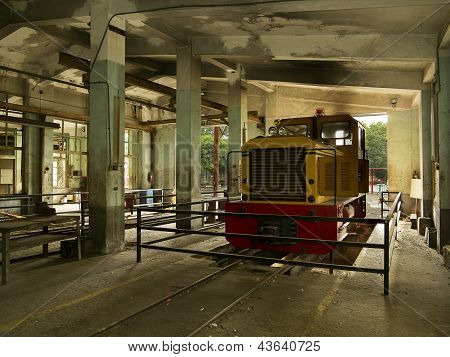 Train In The Old Service Depot In Taiwan Sugar Museum