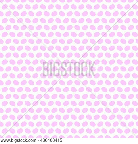 Playful Neon Dot Seamless Vector Background. Colorful Bold Flowers In Retro Silhouette Style. Hand D