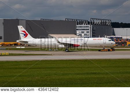 Hamburg, Germany - July 5, 2017: China Eastern Airlines Passenger Plane At Airport. Schedule Flight