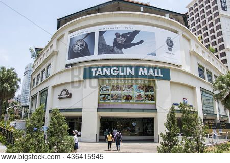 Singapore- 16 Oct, 2021: Main Entraince Of Tanglin Mall In Singapore. Tanglin Mall Is Strategically