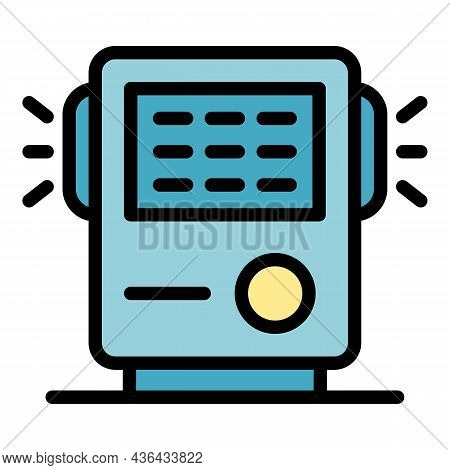 Air Filtration Device Icon. Outline Air Filtration Device Vector Icon Color Flat Isolated