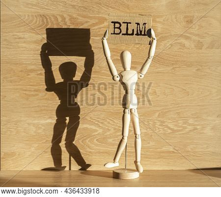 Blm Acronym For Black Lives Matters Movement. Abstract Concept.