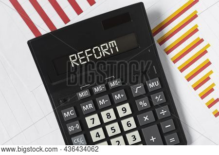 Tax And Financial Policy Reform Steps Concept.