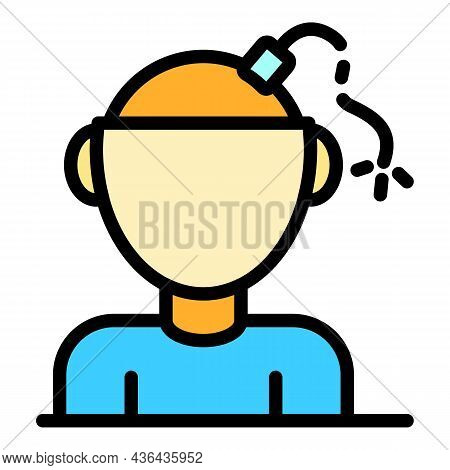 Bipolar Psychology Icon. Outline Bipolar Psychology Vector Icon Color Flat Isolated