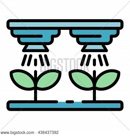 Smart Farm Irrigation Icon. Outline Smart Farm Irrigation Vector Icon Color Flat Isolated