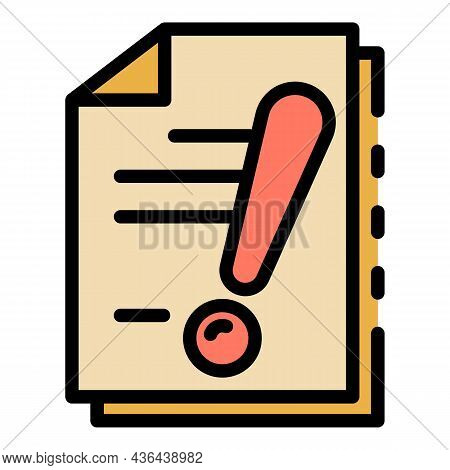 Startup Documents Icon. Outline Startup Documents Vector Icon Color Flat Isolated